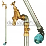 25mm MDPE Standpipe, c/w 3/4'' Single Bib Tap & Double Check Valve