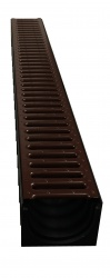 Dek-Drain x 1m Mahogany Brown Powder Coated Grate