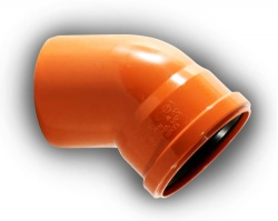 110mm Underground Drainage 45° S/S Bend Pack of 30
