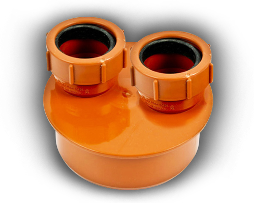 110mm Double Waste Adaptor 40mm & 40mm