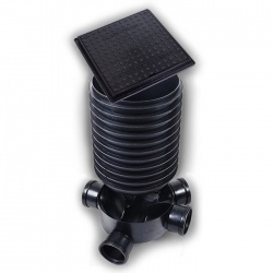 320mm Manhole Chamber (5 inlet) + 1 x 400mm high riser + 1 x 320mm 35kn Square Cover