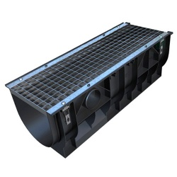 A15 Mega-Channel x 1m Galv Mesh Grate