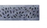 Botanical Decorative Channel Drainage Grate Raw Cast Iron x 300mm