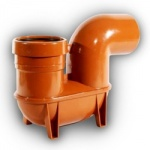 110mm Drainage Low Back P Trap