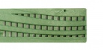 Wave Decorative Channel Drainage Grate Green x 900mm