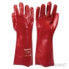 Red PVC Gauntlets (pair) One Size