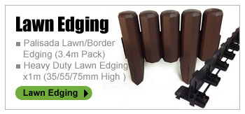 LAWN EDGING ■ Palisada Lawn/Border Edging (3.4m Pack) ■ Heavy Duty Lawn Edging x1m (35/55/75mm High )