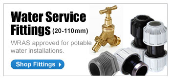 WATER SERVICE FITTINGS (20-110MM) - WRAS approved for potable water installations