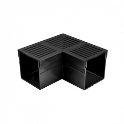 Threshold 100 Drainage Channel Corner Black Aluminium Grate