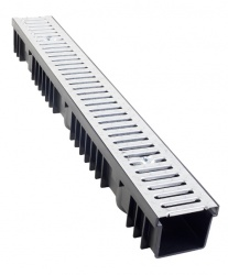 A15 Drainage Channel x 1m Stainless Steel Grate