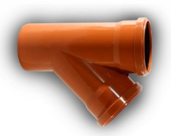 160mm Underground Drainage 45° Junction D/S
