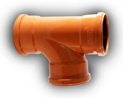 160mm Underground Drainage 87° Junction T/S