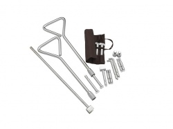 Universal Manhole Key Kit with Interchangeable Ends 20'' (2 keys)