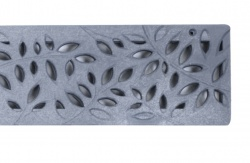 Botanical Decorative Channel Drainage Grate Grey x 900mm