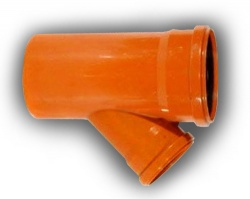 160mm x 110mm Underground Drainage 45° Junction D/S