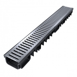 XDrain 130/80 B125 Driveway Drainage x 1m Stainless Steel Grate