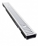Low Profile Drainage Channel x 1m Galvanised Grate