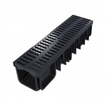 XDrain 130/120 A15 Drainage Channel x 500mm Long Black Grate