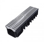 XDrain 130/120 A15 Drainage Channel x 500mm Long Grey Grate