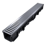 XDrain 130/120 B125 Driveway Drainage x 1m Stainless Steel Grate