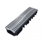 XDrain 130/80 A15 Drainage Channel x 500mm Long Grey Grate